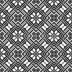 幾何学的な花のノット シームレスなベクトルパターン設計