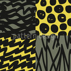 Leo Patchwork Seamless Vector Pattern Design