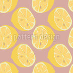 Healthy Lemon Halves Seamless Pattern
