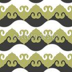 カーリングウェーブオーナメント シームレスなベクトルパターン設計