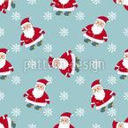 Der Weihnachtsmann Nahtloses Vektormuster