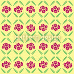 Sunny Vintage Flowers Pattern Design