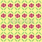 サニーヴィンテージ花 シームレスなベクトルパターン設計
