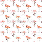 Pink Flamingo Vector Pattern