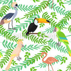 Tropical Birdies Vector Design