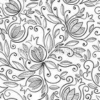Floraler Granatapfel Rapportiertes Design