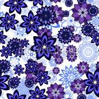 Blumenstreusel Muster Design