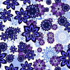 Flower Sprinkles Seamless Vector Pattern Design