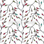 Floral Branching Vector Ornament