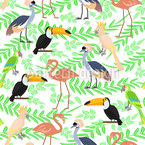 Exotic Birdies Seamless Vector Pattern Design