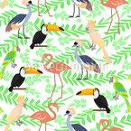 Exotische Vögelchen Nahtloses Vektormuster