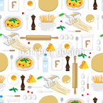 Cooking spaghetti Pattern Design