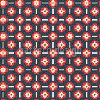 Florale Pixel Formen Musterdesign