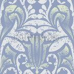 Damasko Blue Seamless Vector Pattern Design