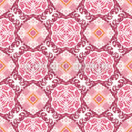 Floral Victorian Ornaments Repeat Pattern
