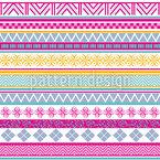 Ethnische Stammes Streifen Muster Design