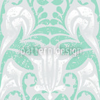 Damasko Green Seamless Vector Pattern Design