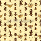 Realistic Beetles Vector Pattern