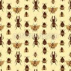 Realistische Käfer Nahtloses Vektormuster