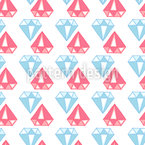 Diamonds are a Girls best Friend Seamless Vector Pattern Design