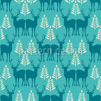 Wintry Forest Animals Repeat Pattern