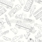 Doodle Cars Seamless Vector Pattern Design