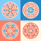 Snowflake Tiles Seamless Vector Pattern Design