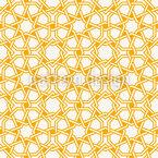 Verkettete Islamische Sterne Nahtloses Vektormuster