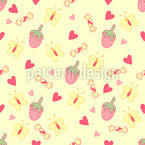 Butterfly Sweets Seamless Vector Pattern Design