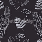 Scandinavian Branches Seamless Vector Pattern Design