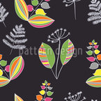 Scandinavian Herbs Seamless Vector Pattern Design