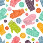 Tanzende Handschuhe Nahtloses Vektormuster