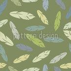羽のような葉 シームレスなベクトルパターン設計