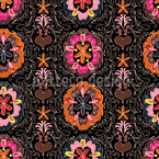 Floralie At Night Seamless Vector Pattern Design