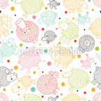 Lovely Sheep Repeat Pattern