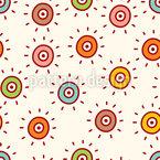 かわいい水玉 シームレスなベクトルパターン設計