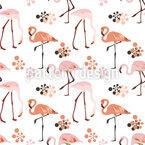 Flamingo Leben Nahtloses Vektormuster