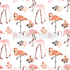Flamingo Vida Estampado Vectorial Sin Costura