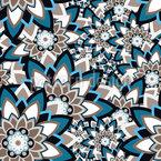 Mandala Schichten Nahtloses Vektormuster