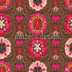 Floralie Brown Seamless Vector Pattern Design