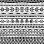 Stammes-Stickerei Rapportiertes Design