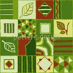 Natürliches Patchwork Musterdesign