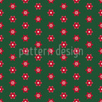 Stylized Poinsettia Seamless Pattern