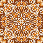 Amply Embellished Tile Seamless Vector Pattern Design