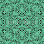Ornamental Limes Seamless Vector Pattern Design