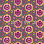 Sixties Honeycomb Seamless Vector Pattern Design