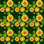Bright Sunflowers Seamless Vector Pattern Design