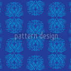Phoenix In Blue Design Pattern