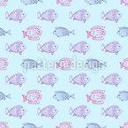 Blub Blub Fisch Nahtloses Vektormuster