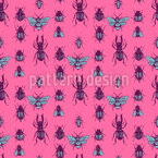 Naturalistic Beetles Seamless Vector Pattern Design